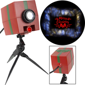 Gemmy Christmas Lightshow Projection Glowing Greetings Merry Christmas