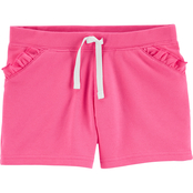 Carter's Little Girls Ruffle Pull On French Terry Shorts