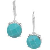 Lauren Ralph Lauren Silvertone Turquoise Drop Earrings