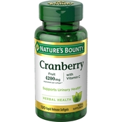 Nature's Bounty Cranberry Fruit 4200mg with Vitamin C Softgels 120 ct.