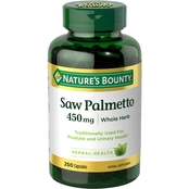 Nature's Bounty Saw Palmetto 450 mg 250 ct.