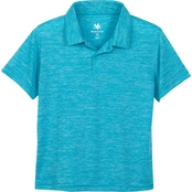 Buzz Cuts Boys Lightweight Heathered Polo