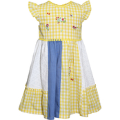 Blueberi Boulevard Infant Girls Checkered Patchwork Dress