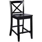 Linon X Back Counter Stool