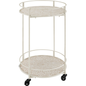 Linon Perry Medallion Rolling Cart