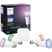 Philips Hue White and Color Ambiance A19 4 Set Starter Kit