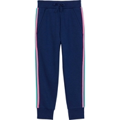 Pony Tails Girls Fleece Stripes Pull On Joggers