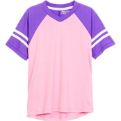 Pony Tails Little Girls Athletic V-Neck Top