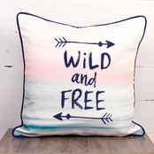 Haven by Nemcor Wild and Free Decorative Outdoor Pillow