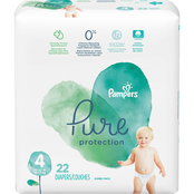Pampers Pure Protection Diapers Size 4 (22-37 lb.) 22 ct.