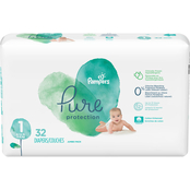 Pampers Pure Protection Diapers Size 1 (8-14 lb.) 32 ct.