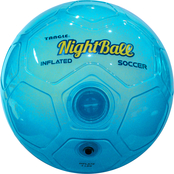 Tangle Creations Blue NightBall Inflated Size 5 Soccer Ball
