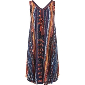 Passports Printed Dress with Tassels