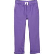 Pony Tails Little Girls Stretch Twill Pull On Casual Pants