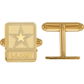 18K Gold Over Sterling Silver United States Army Cuff Links