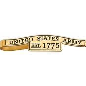 18K Gold Over Sterling Silver United States Army Epoxied Tie Bar