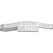 Sterling Silver United States Army Tie Bar