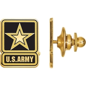 18K Gold Over Sterling Silver United States Army Epoxied Lapel Pin