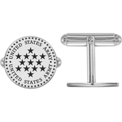 Sterling Silver United States Army Epoxied Disc Cuff Links