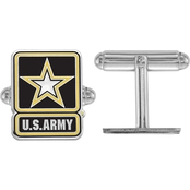 Sterling Silver United States Army Epoxied Cuff Links