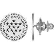 Sterling Silver United States Army Epoxied Disc Lapel Pin