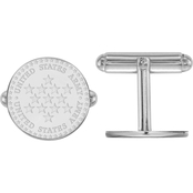 Sterling Silver United States Army Disc Cuff Links