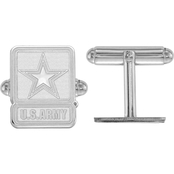 Sterling Silver United States Army Cuff Links