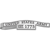 Sterling Silver United States Army Epoxied Tie Bar