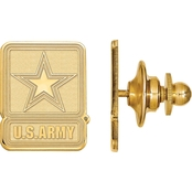 18K Gold Over Sterling Silver United States Army Lapel Pin