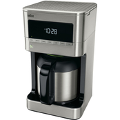 Braun BrewSense 10 Cup Drip Coffee Maker with Thermal Carafe