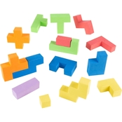Hey! Play! Sensory Foam Blocks Puzzle Toy for Toddlers