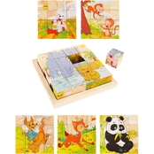 Hey! Play! Animal Block Puzzle 6-in-1 Zoo Patterns