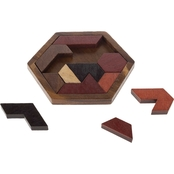 Hey! Play! Hexagon Block Tangram Puzzle 11 pc.