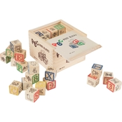 Hey! Play! ABC and 123 Wooden Blocks Letter and Number Toy