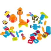 Hey! Play! Brush Shaped Building Block Toy Set