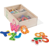 Hey! Play! Colorful Wooden Math and Letter Magnet 52 pc. Set