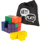 Hey! Play! Wooden Geometric Puzzle Cube