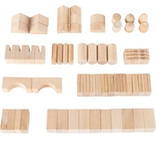 Hey! Play! Wooden Blocks Classic Building Set 65 pc.
