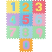 Hey! Play! Foam Number Crawling Mat with 0-9 Numbers