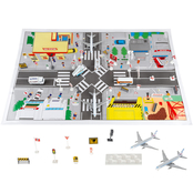 Hey! Play! Airport with Mat 43 pc. Playset