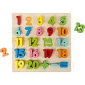 Hey! Play! STEM Basics Wooden Numbers Learning Puzzle