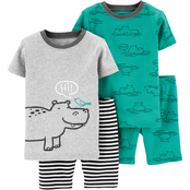 Carter's Infant Boys 4 pc. Hippo Snug Fit Cotton Pajama Set