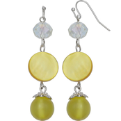 jules b Yellow Triple Drop Earrings