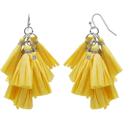 jules b Yellow Tassel Drop Earrings
