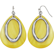 jules b Yellow Teardrop Shell Drop Earrings
