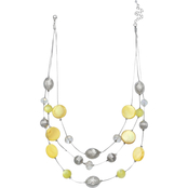 jules b Yellow Illusion Necklace