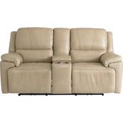 Bassett Colton Power Motion Loveseat with Console
