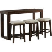 Elements Hardy Occasional Bar Table with 3 Stools