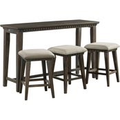 Elements Morrison Occasional Bar Table with 3 Stools