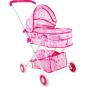 Hey! Play! Deluxe Toy Pram for Baby Dolls, 18 in.